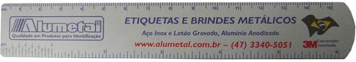 Regua Aluminio Anodizado Impresso 15 cm