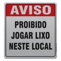 AL - 2016 - AVISO PROIBIDO COLOCAR LIXO