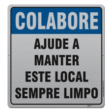 AL - 2017 - COLABORE AJUDE A MANTER ESTE LOCAL LIMPO