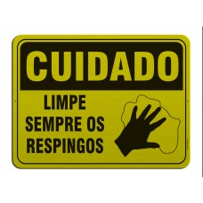AL - 3070 - CUIDADO - Limpe sempre os respingos
