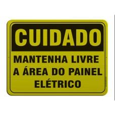 AL - 3075 - CUIDADO - Mantenha livre a área do painel elétrico