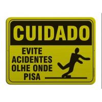AL - 3076 - CUIDADO - Evite acidentes olhe onde pisa