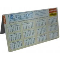 Calendário 1 em alumínio impresso - DOBRA EM FORMATO /\