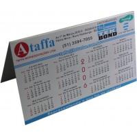 Calendário 2 em alumínio impresso - DOBRA EM FORMATO /\