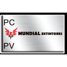 Etiqueta extintor PC / PV