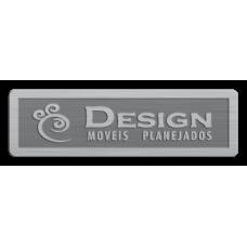 Etiqueta de Móveis 09 alumínio gravado alto relevo s/ cor