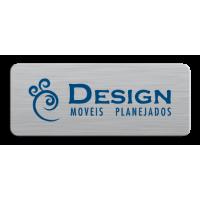 Etiqueta de Móveis 13 alumínio impresso em 1 cor