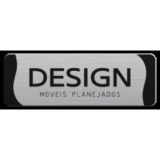 Etiqueta de Móveis 26 alumínio impresso 2 cores