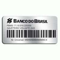 Etiqueta de patrimônio padrão banco do Brasil - 54x27mm