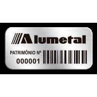 Etiqueta de patrimônio - 37x18mm - código de barras - com fita