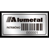 Etiqueta de patrimônio - 40x20mm - código de barras - com fita