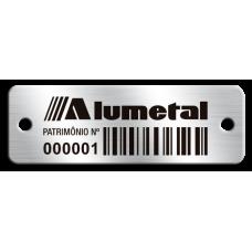 Etiqueta de patrimônio - 45x15mm - Código de Barras - com furos