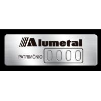 Etiqueta de patrimônio - 45x15mm - Numeração puncionada - com fita