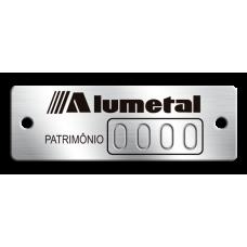 Etiqueta de patrimônio - 45x15mm - Numeração puncionado - com furos