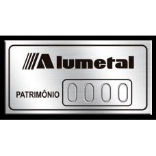 Etiqueta de patrimônio - 40x20mm - puncionado - com fita