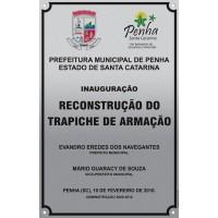 Placa de inauguração 3 - alumínio