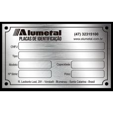 Placa de Identificação em aço inox