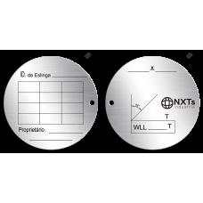 Placa de Identificação - Eslinga - Diâmetro 89mm
