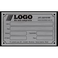 Placa de Identificação em alumínio - 100x60mm