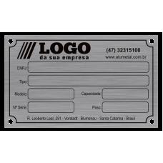Placa de Identificação em Alumínio Impresso - 100x60mm