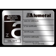 Placa de calibração ABNT NBR ISO 17025 com fita adesiva