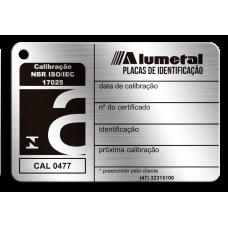 Placa de calibração ABNT NBR ISO 17025