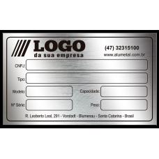 Placa de Identificação em aço inox - 100x60mm - com fita