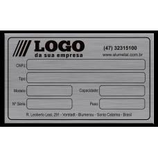 Placa de Identificação em alumínio - 100x60mm com fita