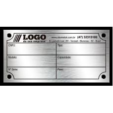 Placa de Identificação em aço inox - 60x30mm