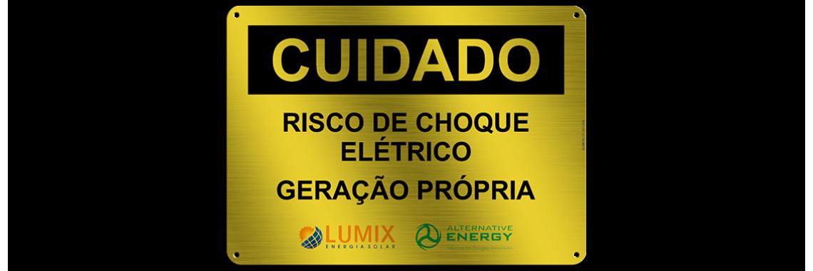 Placa de Identificação - Risco de choque elétrico